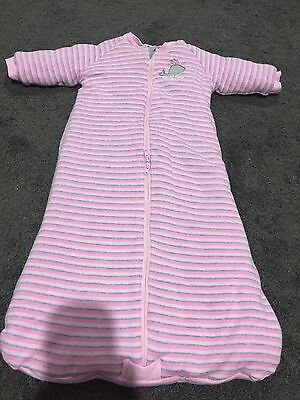 Sungtime - Baby Girls Winter Sleeping Bag - Size 0 - 6-12 Months - Tog 2.5