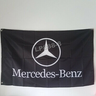 Black Racing Car Racing Banner Flags for Mercedes-Benz Flag 3x5ft free shipping