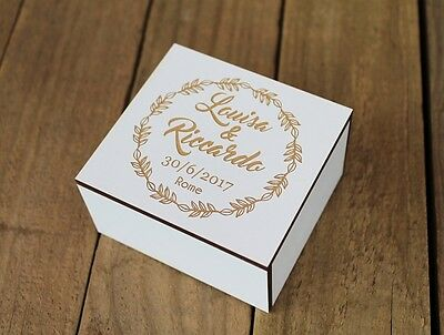 Wedding ring box by Treex, custom engraved ring bearer