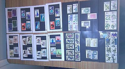 14 sets of mint GB stamps on small stock cards