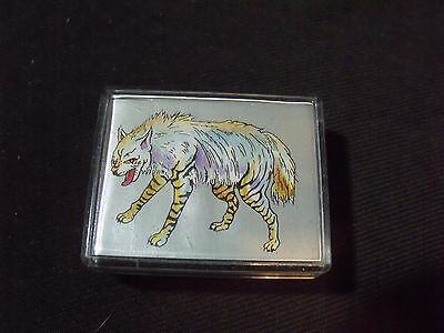 aardwolf rubber stamp craft supply stamping ink striped hyena ??
