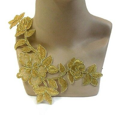 Gold Iron On Applique #88 Aust Seller Costume Trim Dance BalletTrim