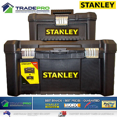 Stanley® Tool Chest Box COMBO BONUS 48cm & 32cm Lockable Storage Toolbox Kit