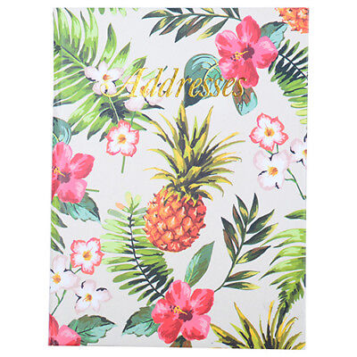 Cumberland Address Book 190 x 130mm Casebound - Pinapple 72 Leaf
