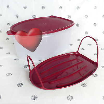NEW Tupperware Flavour Savour Roast Keeper Cranberry seal