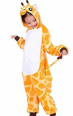 Kids Unisex Cosplay Pajamas jump suit Giraffe Costume, 6-8 Years
