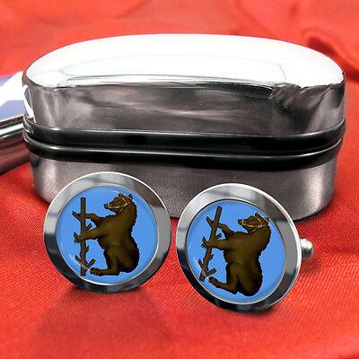 Warwickshire County Cufflinks & Box