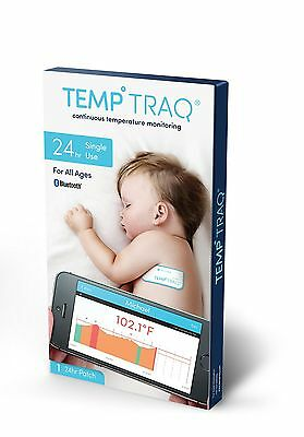 TempTraq NEW MODEL Continuous 24 Hour Temperature Monitor The Only Single Use