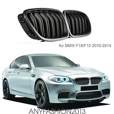 High Matte Black Kidney Grill BMW F10/F18 528i 535 550i Sedan Touring 2011-2014