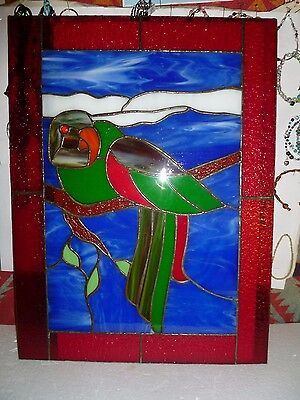 Stain Glass Parrot 24 X 18 1/2