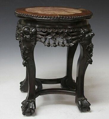 CHINESE CARVED MARBLE TOP TABLE Lot 6266