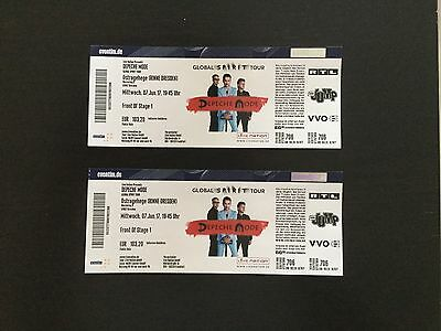 2 Tickets Depeche Mode Dresden Front Of Stage 1 07. 06. 2017