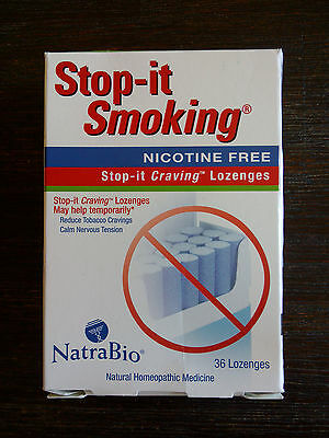 Natrabio Stop-It Smoking Nicotine Free 36 Lozenges Homeopathic Quit Smoking Aid
