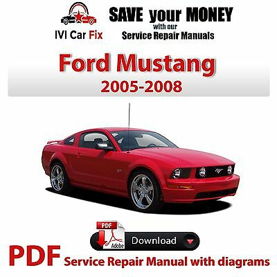 2004 2005 2006 ford mustang service repair maintenance shop manual rh picclick com Ford Mustang Manual Knob Ford Mustang Manual Knob
