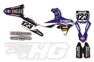 Motocross Dekor Yamaha YZF YZ 125 - 450 2010 - 2017 Factory Graphics Star Racing