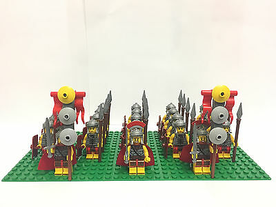 5Roman Army Fighters Commander Minifigs Flags Base Plate & Lego Brick Separator