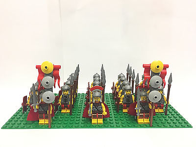 Roman Army Fighters Commander Minifigs Flags Base Plate & Lego Brick Separator