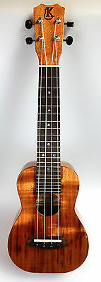 Kanile'a K1 Sopran Ukulele gloss finish, Koa, high-end aus Hawaii