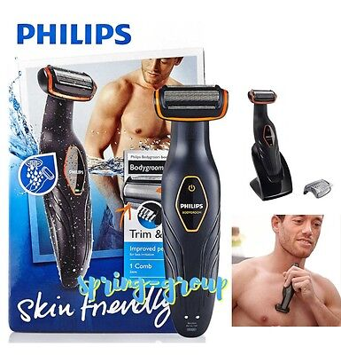 Mens Body Groomer Waterproof Cordless Shaver Shower Hair Remover Rechargeable