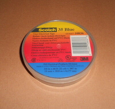 3M Scotch  054007-10836  Blue 35 Vinyl Electrical Tape 3/4 in. x 66 ft. .007