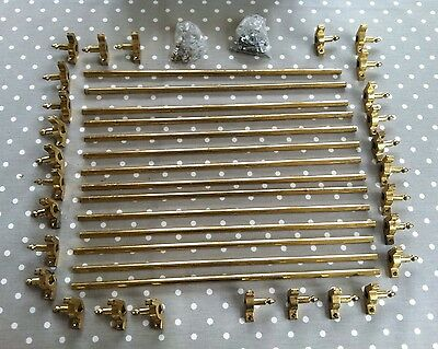 Set of 14 Solid brass Stair Rods 1/2 Inch x 2 ft total length with Acorn Finial