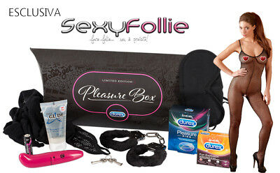 Durex Pleasure Box Ltd Scatola 7 Accessori Erotici Coppia Vibratore Sexy Intimo