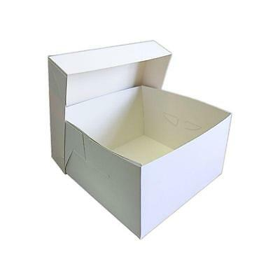 "White Cake Boxes Stapleless 8"" 9"" 10"" 11"" 12"" 13"" 14"" 15"" 16"" Multi Buy Discount"