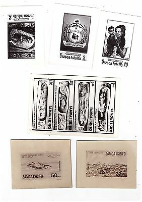 Samoa Stamps, Collection of PUBLICITY PHOTOs & Media RELEASE  (82 items) SCARCE