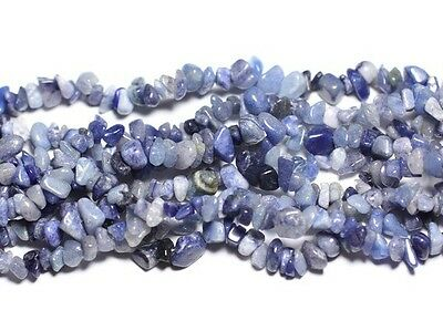 Perles Rocailles Chips Aventurine Bleue 4-10mm