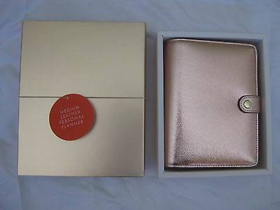 Kikki K Medium Limited Edition Rose Gold Leather Personal Planner New In Box