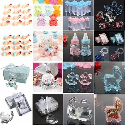 Mini Bottles Baby Shower Girl Boy Christening Party Favour Cake Decoration Gift