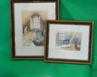ALEXANDER KRAJEWSKI Matted Hand Signed Limited Edition Prints 1988 Set of 2