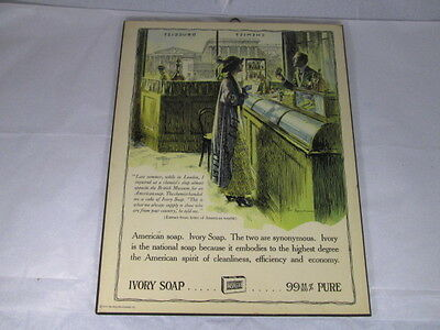 Vintage 1975 Ivory Soap Procter & Gamble Ad Sign Display