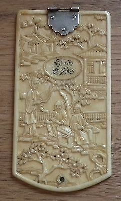Stunning Early 19Th Century Chinese / Cantonese Carved Panel - Bovine Bone