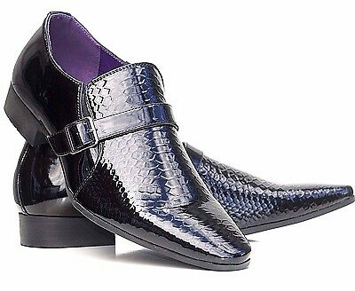 Mens Patent Shoes Wedding Shiny Italian Formal Office Party Casual