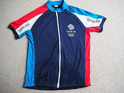 Mens Team GB Short Sleeve Cycling Jersey, Large, Excellent Condition