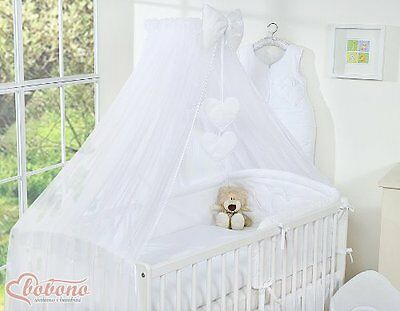 LOVELY BIG 470x160cm AND QUALITY WHITE MOSQUITO NET / CANOPY / DRAPE with BOW be