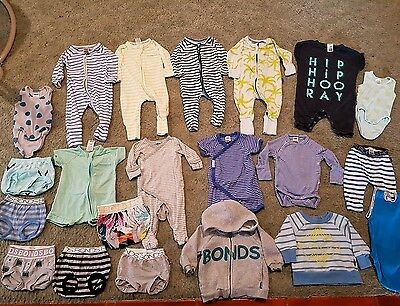 Bonds Baby Boy Size 000 Massive Bulk Lot Zippies Jumpers Leggings Etc