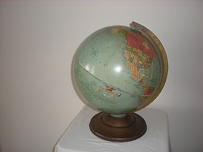 "Vintage Large Replogle Chicago Ref Globe Stunning Example 38"" Circumference"