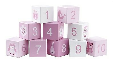 Wooden Building Blocks- Pink 1-10