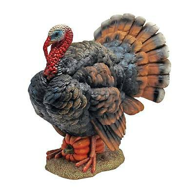 """Design Toscano 12"""" Hand Painted Indoor Or Out North American Turkey Sculpture"""