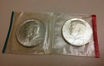 1964 P&D 90% Silver Kennedy Half Dollars from Mint Set