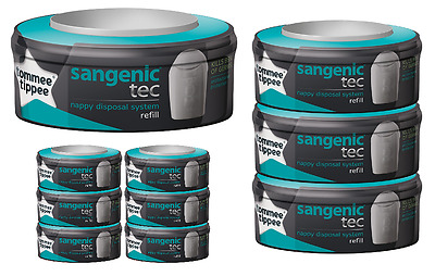 Tommee Tippee Sangenic Refills Compatible Cassette Nappy Tub Bin Refill Pack New