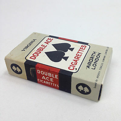 FULL PACK of Vintage DOUBLE ACE CIGARETTES Virginia Ardath London