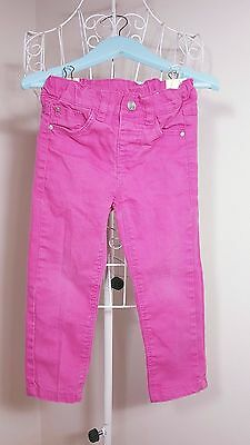 Size 2-3Y Gorgeous Girls Pink Denim Jeans! Great Condition. Bargain Price!