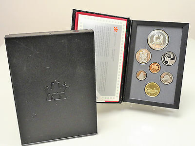 1988 Canada proof set, double dollar, ironworkers silver dollar, with box & COA