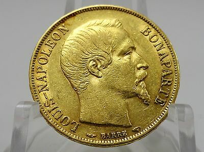 1852A France gold 20 francs coin, KM#774, Second Empire, Napoleon III #65048-002