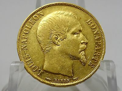 1852A France gold 20 francs coin, KM#774, Second Empire, Napoleon III #65048-001