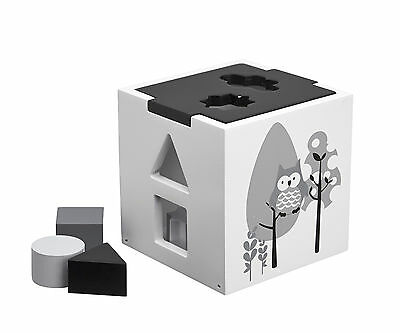 Wooden Shape Sorter- Black