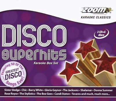 Zoom Karaoke Disco Superhits 3 Disc Box Set CD + G New Sealed